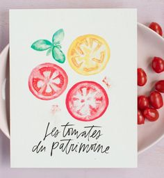Farmhouse art download - Heirloom Tomatoes printable from Lindsay Letters.