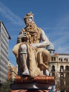 The grandest Falla - in Plaza Ayuntamiento, Valencia
