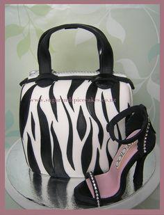 Zebra Handbag Purse Cake  TUTORIAL in .pdf by MelSugarMamas, $15.00 Instant Download