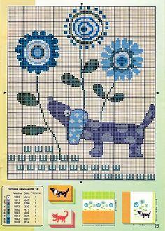 Χειροτεχνήματα: Σκυλάκια για κέντημα / Dog cross stitch patterns