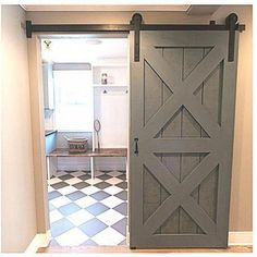 5ft Winsoon Black Single Barn Door Hardware Sliding Rolling Closet Track Kit Set Straight Design Barn Doors Sliding Sliding Doors Interior Wood Doors Interior