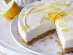 Creating a zesty and delightfully smooth lemon cheesecake is a breeze with Carnation. Get the recipe for the tasty dessert with a biscuit base here. Lemon Cheesecake Recipes, Fruit Cheesecake, Keylime Pie Recipe, Chocolate Cheesecake, No Bake Desserts, Easy Desserts, Delicious Desserts, Dessert Recipes, Dessert Ideas