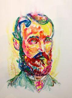 Aaron Smith mono-print at Sloan Fine Art Print, Fine Art, Beard Art, Drawings, Painting, Art, Monoprint, Artsy, Portrait
