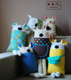 Cute fabric toys by DOrTy