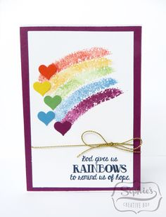 Stampin'Up!Rainbow card Over the rainbow