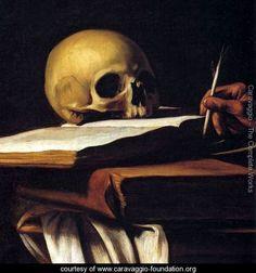 St Jerome (detail) Caravaggio