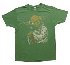 Star Wars Yoda Green Heathered Men's T-shirt - Listing price: $25.00 Now: $14.15