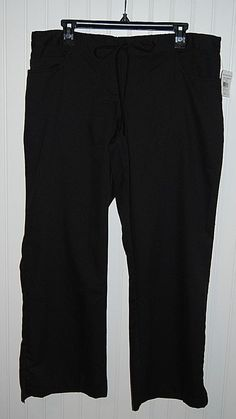 NEW Greys Anatomy Women's Large Petite LP Scrub Pants Black Style 4232P #GreysAnatomy