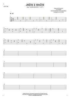 Jožin z bažin sheet music by Banjo Band Ivana Mládka. From album Nashledanou! (1977). Part: Tablature for guitar solo (fingerstyle).