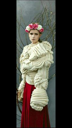 Knitted fashion: reality and fantasies - Fair .- Вязаная мода: реальность и фантазии – Ярмарк… Knitted fashion: reality and fantasies – Fair Masters – handmade, handmade - Love Knitting, Hand Knitting, Knitwear Fashion, Crochet Fashion, Textiles, Tricot D'art, Peau Lainee, Knit World, Knit Art