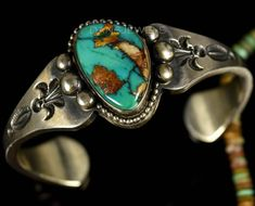 Set with a gem grade Nevada Royston Turquoise stones. Authentic Navajo Handmade Sterling Silver Cuff Bracelet. These are not NEW unless stated as such. Find us on YELP! We actually prefer this method. | eBay! #SterlingSilverBeautiful