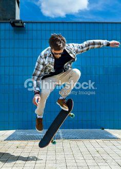 Stock Photo : Skateboarder