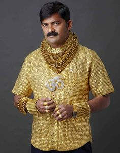 Stop Whatever You're Doing And For God's Sake, Look At This Dude's Gold Shirt