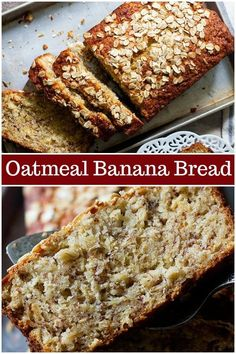 Oatmeal banana bread is perfect for breakfast This easy banana bread very simple and light coming together in no time and everyone loves it bananabread oatmealbananabread quickbread bestbananabread Oatmeal Bread Recipe, Greek Yogurt Banana Bread, Oatmeal Banana Bread, Flours Banana Bread, Easy Banana Bread, Baked Oatmeal, Banana Nut Bread Healthy, Banana Bread Coconut Oil, Whole Wheat Banana Bread