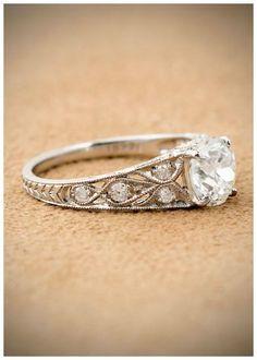 Antique Art Deco engagement ring with a 1.60 carat Asscher cut diamond, circa 1930.
