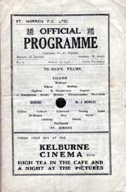 1940s St.Mirren home programme