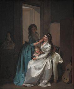 Le présent, ou portrait de deux femmes avec un enfant, une lettre et une guitare, par Louis-Léopold Boilly