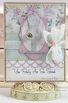 I made this card using pretty patterned paper from the Melissa Frances C'est la Vie collection for a class that I will be teaching.   Thanks for looking :)