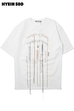 【HYEIN SEO】OVERSAZED EMBROIDERY T-SHIRTS/OFF WHITE | LADY'S,TOPS | | FAKE TOKYO.com