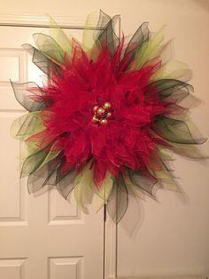 poinsettia wreath tutorial