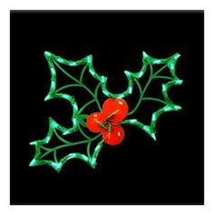 LED Lighted Holly Leaf WindowDoor Hanging IndoorOutdoor Christmas Decor Holiday Xmas Gift *** Click on the image for additional details.