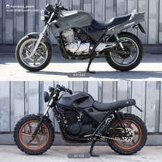 Visit a handful of my favorite builds - specialized scrambler builds like this Gs500 Cafe Racer, Cafe Racer Tv, Cafe Racer Honda, Cbx 250, Honda Cb 500, Vintage Honda Motorcycles, Futuristic Motorcycle, Cafe Racing, Cafe Racer Motorcycle