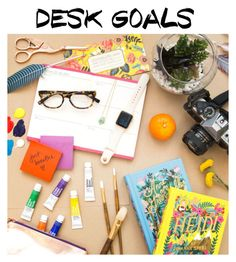 """""""Artists desk"""" by r3franco ❤ liked on Polyvore featuring interior, interiors, interior design, home, home decor and interior decorating"""