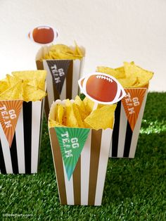 Super Bowl Party with DIY Decorations, Food Ideas and Printables - BirdsParty.com