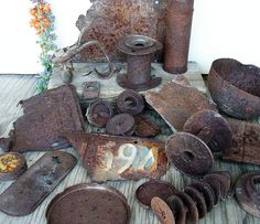 Rusty Scrap Metal Variety Pack Industrial Mixed by HighDesertRust
