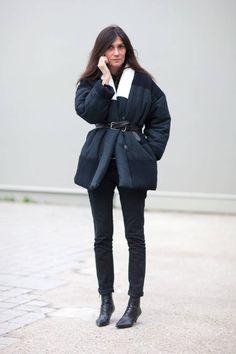 la modella mafia Emmanuelle Alt 2014 street style in Isabel Marant