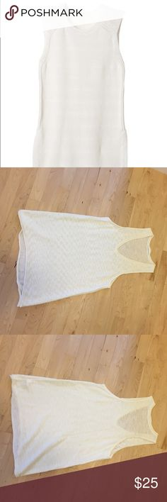Athleta Sweater Tank Athleta white sweater Tank in White! Super cute, can be dressed up or dressed down. No snags, discoloration, or flaws! Athleta Sweaters