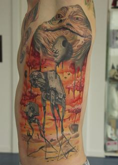 Ever wonder what a Star Wars tattoo would look like if done by Salvador Dali? Your prayers have been answered!