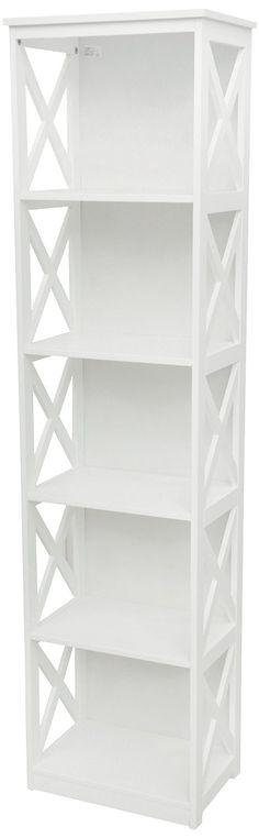 Galileo Casa White, Libreria 5 Ripiani, Legno, Bianco: Amazon.it: Casa e cucina