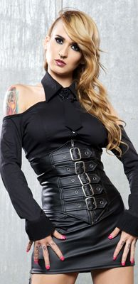 BUCKLED CINCHER  STYLE #69-10 $59.00Lip Service   Clothing & Accessories