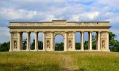 The Colonnade in Lednice-Valtice. It serves absolutely no purpose, but it's pretty, so who cares? Flamboyant, Beautiful Buildings, Czech Republic, Medieval, Solar, Castle, Louvre, Mansions, Architecture