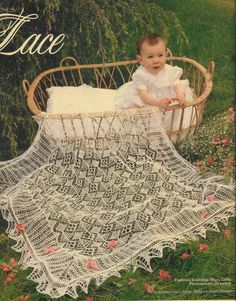Shetland Lace shawl for baby christening present knitting pattern PDF instant download on Etsy, 1,25 €