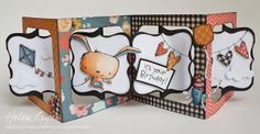 The Dining Room Drawers: Accordion Album & Copic Birthday Card