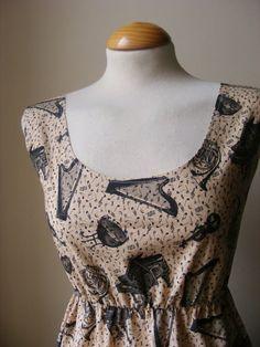 Jennifer Lilly Handmade Beautiful Musical Note Piano Dress, $35.00