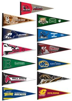 Mid-American Conference College Pennant Set by College Flags and Banners Co., http://www.amazon.com/dp/B008J4CL6A/ref=cm_sw_r_pi_dp_I5-nrb0QYFXMW