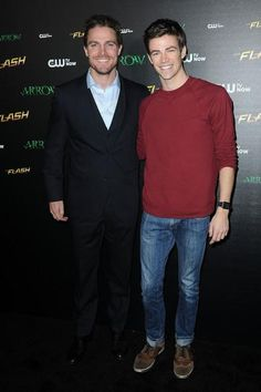 Arrow - Stephen Amell and Grant Gustin