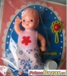 Panenky IGRA v původním balení, Uherské Hradiště, sbazar, avízo, bazoš Vintage Dolls, Dollhouse Miniatures, Nostalgia, Childhood, Retro, Toys, Crochet, Old Fashioned Toys, Archive