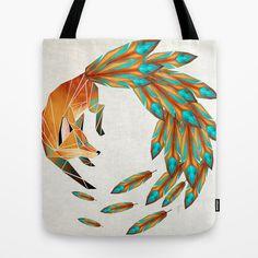 fox cercle Tote Bag