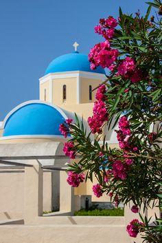 Blue Dome Church in Santorini