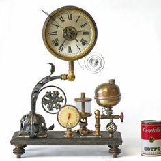 1000 images about steampunk clocks on pinterest for Steampunk wall clocks for sale
