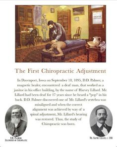 First Chiropractic adjustment!