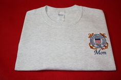 8c83e5fd Embroidered T shirt USCG United States Coast Guard T shirt (sweatshirts are  also available read listing)