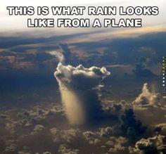 What rain looks like in the air