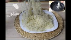 Tel Kadayif Hamuru yaptim I Hazirlarindan güzel oldu I Kadayif Hamuru Na... Turkish Kitchen, Oriental, Turkish Recipes, Coconut Flakes, Spices, Gluten Free, Cheese, Desserts, Food