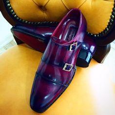 Handmade Men's Shoes by PAUL PARKMAN: Handmade mens monkstrap shoes
