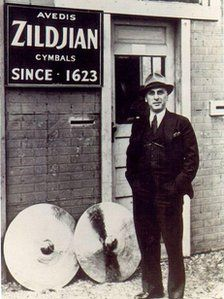 Avedis Zildjian, who emigrated from Turkey to the US. His family's cymbal-manufacturing company was founded in Istanbul in 1623.